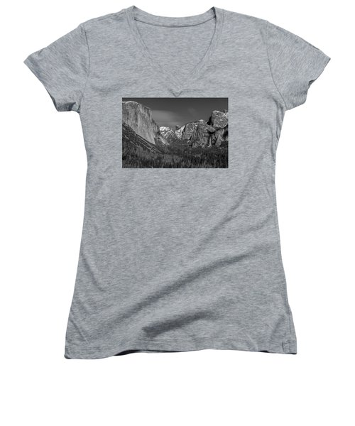 El Capitan And Half Dome Women's V-Neck