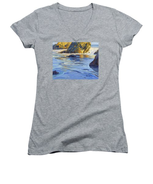 Pacific Reflections 2 Women's V-Neck T-Shirt