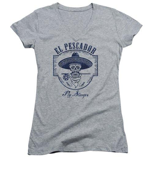 El Pescador Women's V-Neck (Athletic Fit)