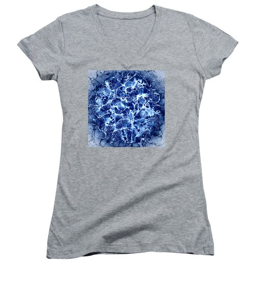 Abstract 1 Women's V-Neck T-Shirt