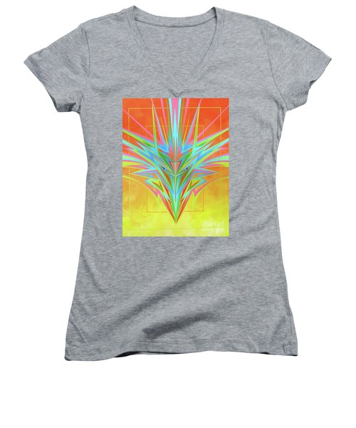 Electric Personality  Women's V-Neck (Athletic Fit)