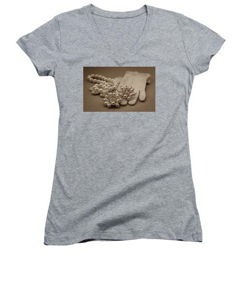 Elegant Lifestyle Women's V-Neck T-Shirt (Junior Cut) by Patrice Zinck