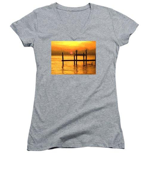 Elements Women's V-Neck T-Shirt (Junior Cut) by Kathy Bassett