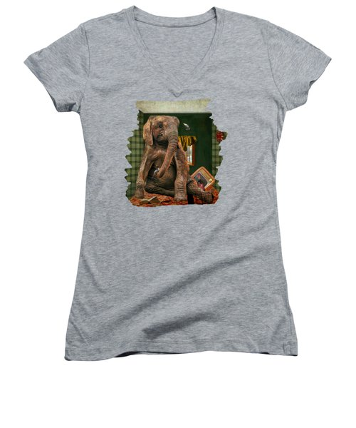 Elephant In The Room Women's V-Neck (Athletic Fit)