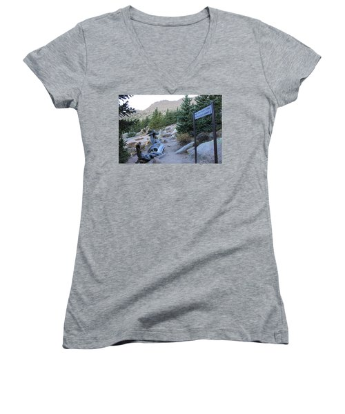 Women's V-Neck T-Shirt (Junior Cut) featuring the photograph Elevation 11,500 by Christin Brodie