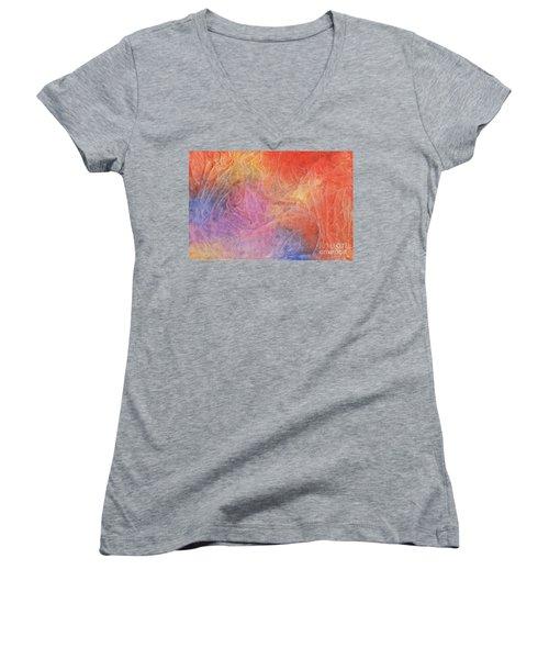 Eleyna's Forest Women's V-Neck T-Shirt (Junior Cut) by Jackie Mueller-Jones