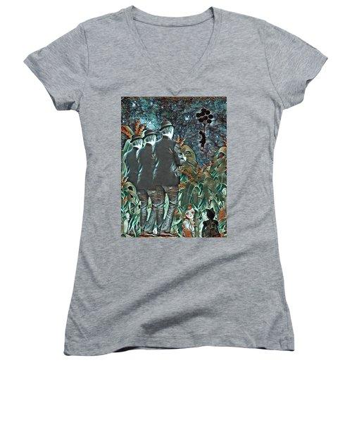Elite Hide And Seek Women's V-Neck T-Shirt
