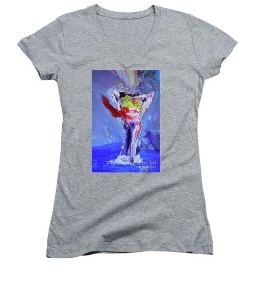 Elixir Of Life II Women's V-Neck T-Shirt (Junior Cut) by Amara Dacer