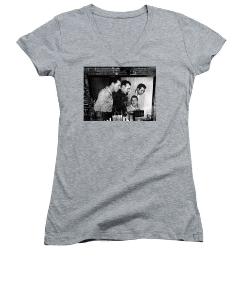Elvis, Jerry Lee, Johnny Cash Sun Studio Memphis  Women's V-Neck