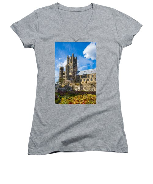 Ely Cathedral And Garden Women's V-Neck