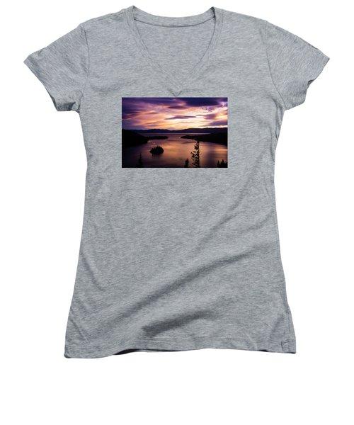 Emerald Bay Sunrise - Lake Tahoe, California Women's V-Neck
