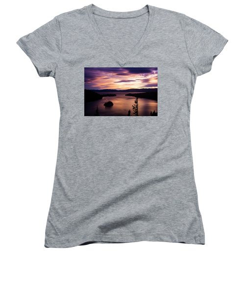 Emerald Bay Sunrise - Lake Tahoe, California Women's V-Neck