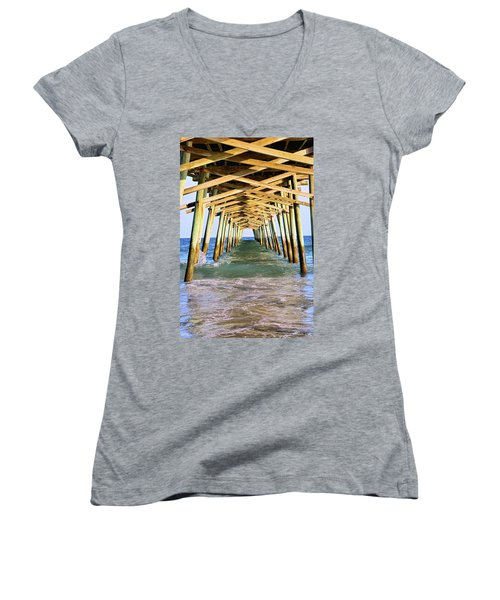 Emerald Isles Pier Women's V-Neck