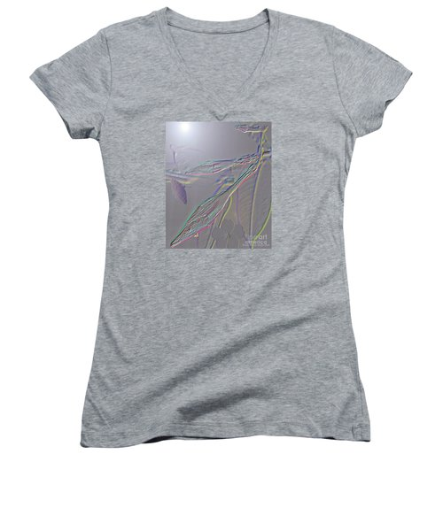 Women's V-Neck T-Shirt (Junior Cut) featuring the photograph Emergence  by Patricia Griffin Brett