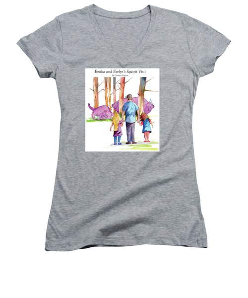 Emilia And Evelyn's Squizit Visit Women's V-Neck
