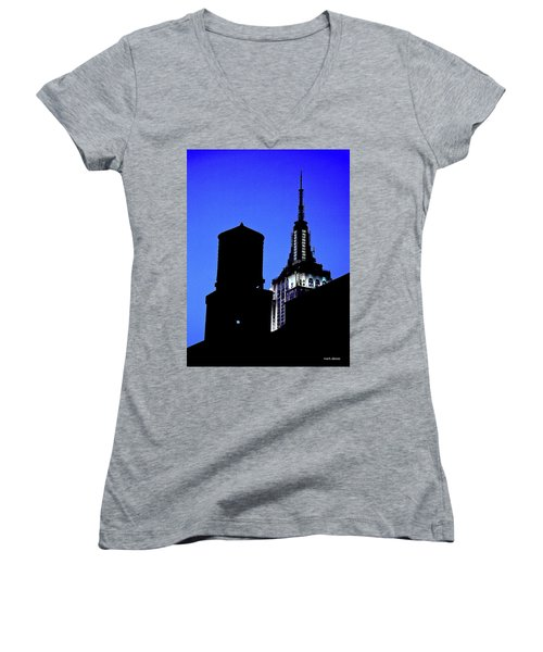 Empire State Building Women's V-Neck T-Shirt