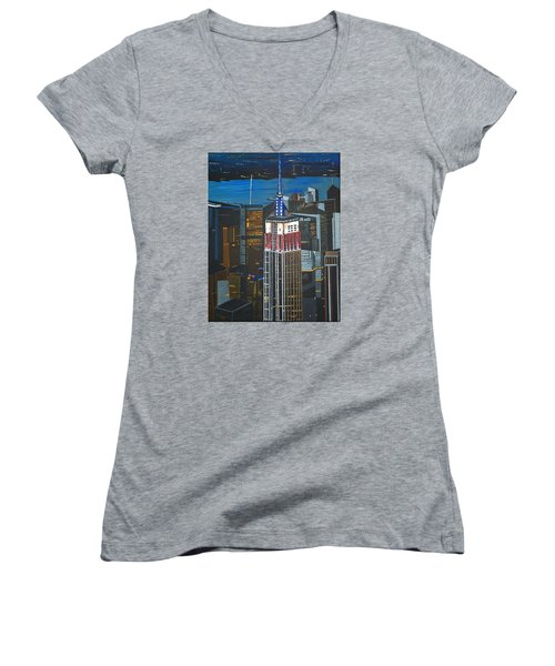 Empire State Women's V-Neck (Athletic Fit)