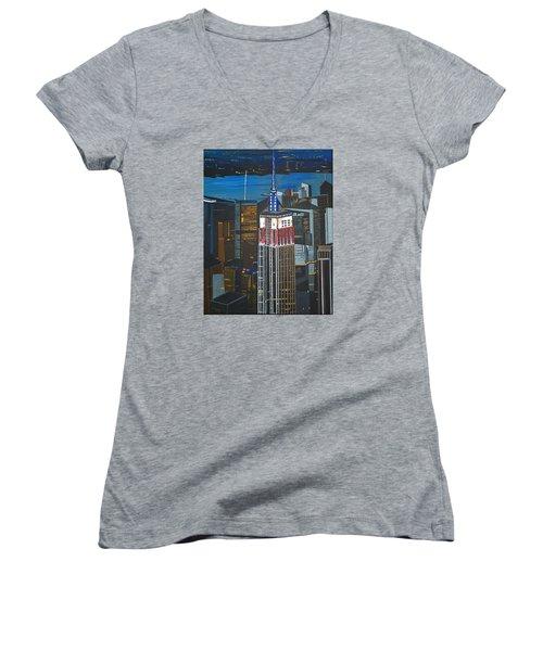 Empire State Women's V-Neck T-Shirt