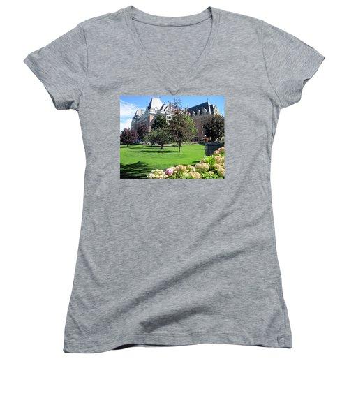 Empress Hotel Women's V-Neck T-Shirt