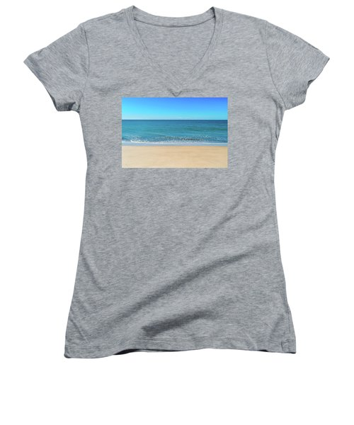 Empty Beach Women's V-Neck T-Shirt