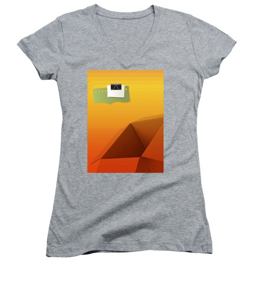 Outside Empty Box Women's V-Neck T-Shirt (Junior Cut) by Moustafa Al Hatter