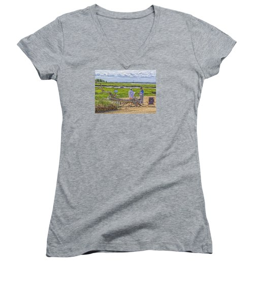 En Plein Air  Cape Cod Women's V-Neck T-Shirt