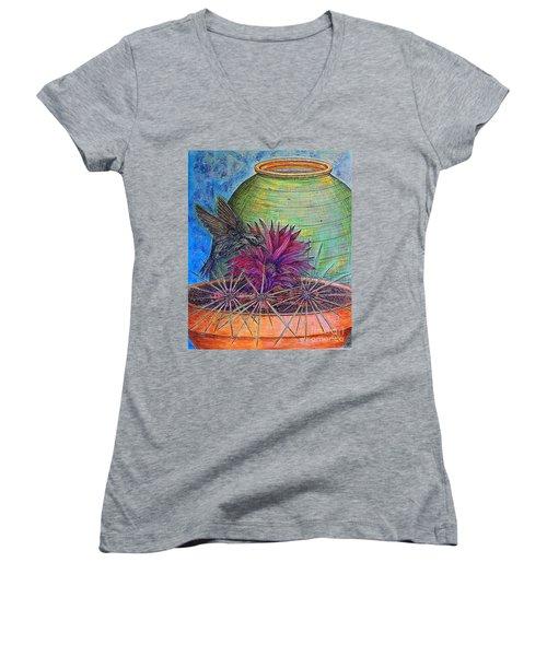 En Route Women's V-Neck T-Shirt (Junior Cut) by Kim Jones