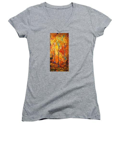 Enchanted Women's V-Neck T-Shirt (Junior Cut) by Alan Lakin