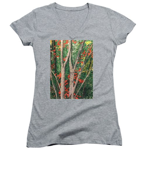 Enchanted Birches Women's V-Neck