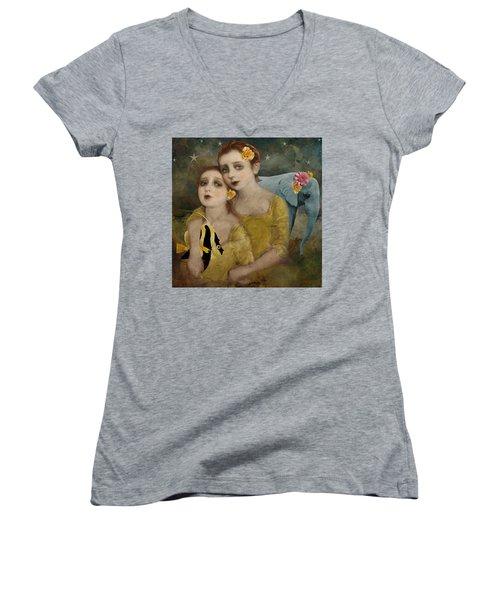 Enchanted Elephant Women's V-Neck T-Shirt