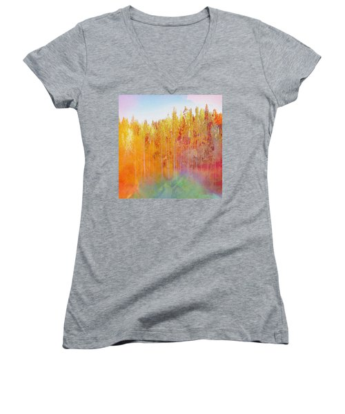 Enchanted Scenery #3 Women's V-Neck (Athletic Fit)