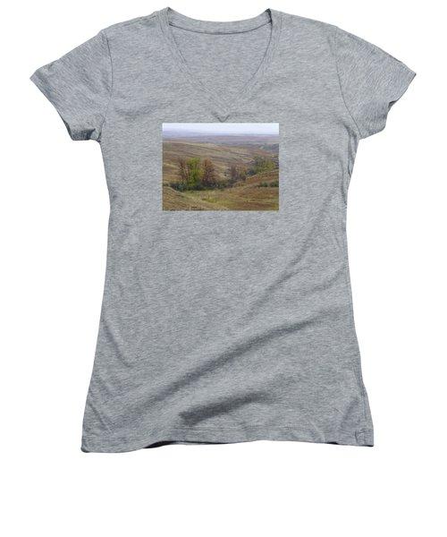 Enchantment Of The September Grasslands Women's V-Neck