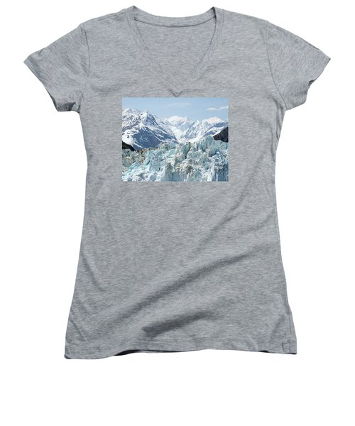 Glaciers End Of A Journey Women's V-Neck (Athletic Fit)
