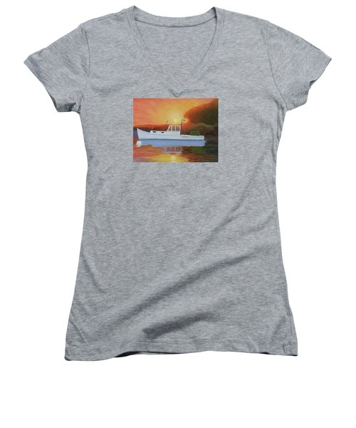 End Of A Work Day Women's V-Neck (Athletic Fit)