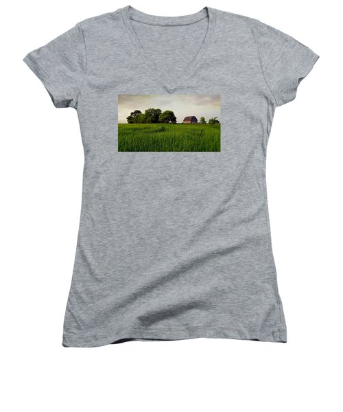 End Of Day Women's V-Neck T-Shirt (Junior Cut) by Keith Armstrong