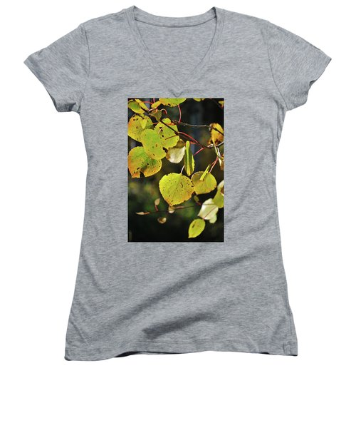 Women's V-Neck featuring the photograph End Of Summer by Ron Cline