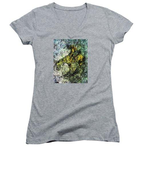 End Of The Trail 5 Women's V-Neck T-Shirt (Junior Cut) by Ayasha Loya