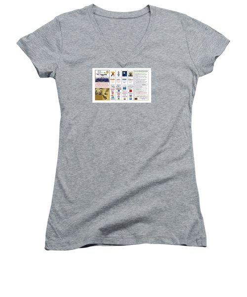 Endgames M And A Djia Women's V-Neck T-Shirt (Junior Cut) by Peter Hedding