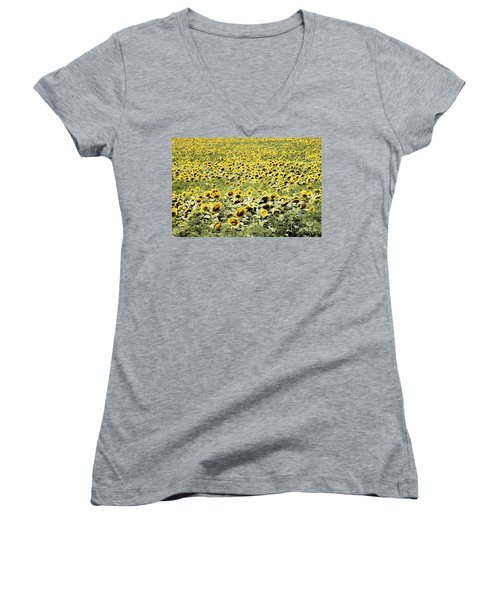 Endless Sunflowers Women's V-Neck (Athletic Fit)