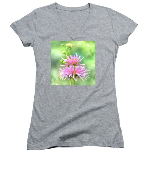 Women's V-Neck T-Shirt featuring the photograph Enduring Grace by John Poon