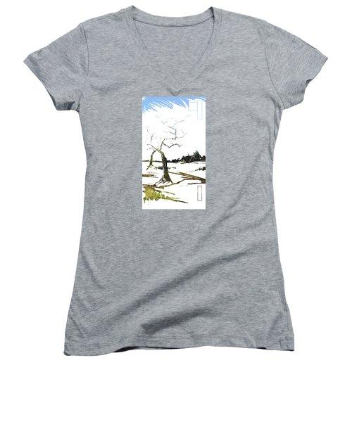 Energy . Tree Women's V-Neck T-Shirt