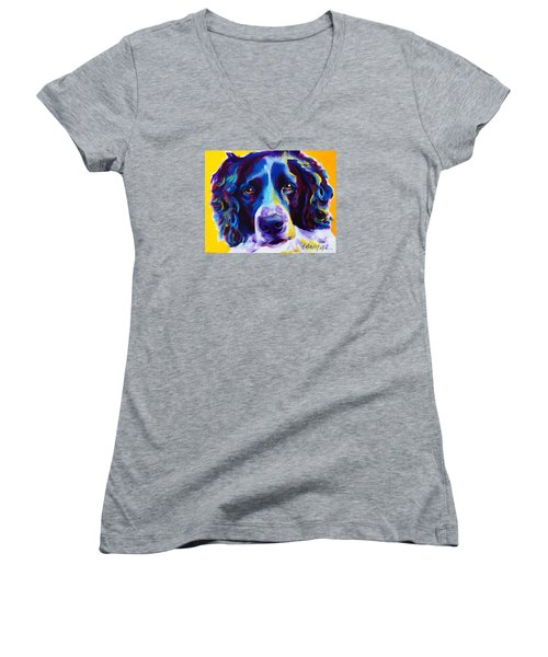 English Springer Spaniel - Emma Women's V-Neck T-Shirt