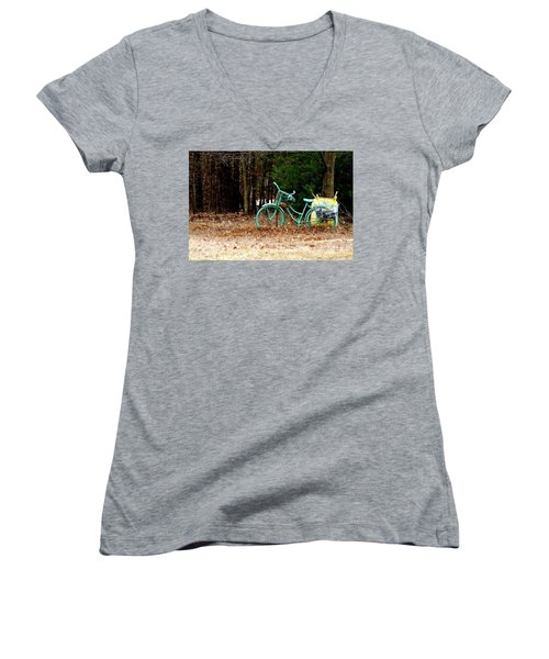 Enjoy The Adventure Women's V-Neck (Athletic Fit)