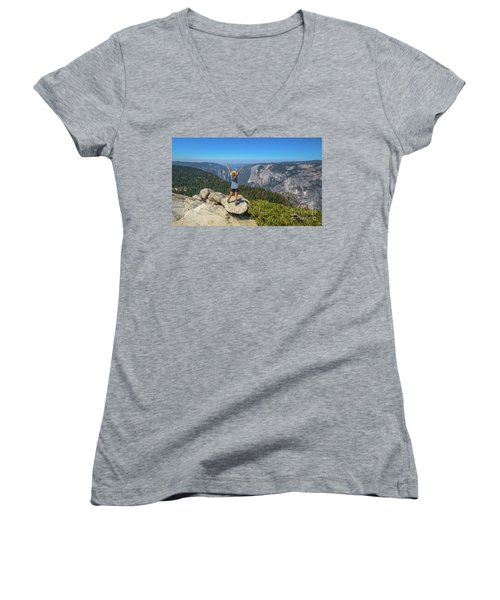 Enjoying At Yosemite Summit Women's V-Neck