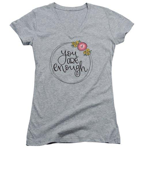 Enough Women's V-Neck