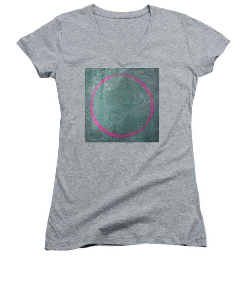 Enso 2017-23 Women's V-Neck T-Shirt (Junior Cut) by Julie Niemela