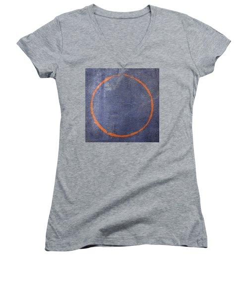 Enso 2017-25 Women's V-Neck T-Shirt (Junior Cut) by Julie Niemela
