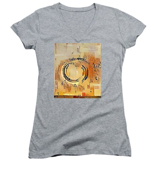 Enso Calligraphy  Women's V-Neck
