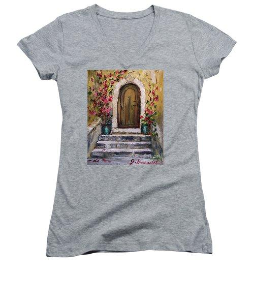 Enter Here Women's V-Neck T-Shirt