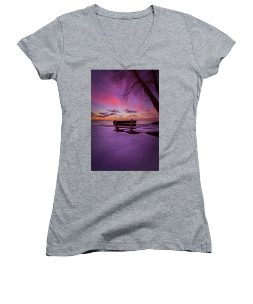 Women's V-Neck T-Shirt (Junior Cut) featuring the photograph Enters The Unguarded Heart by Phil Koch